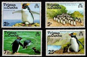 Tristan Da Cunha - Sc #191 to 194 Penguins (2 1/2p, 5p, 7 1/2p, 25p) MNH