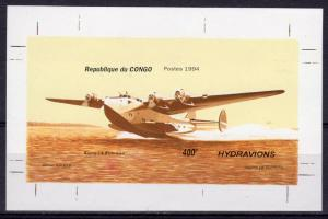 Congo 1994 Sc#1071A SEAPLANES BOEING 314 (US) S/S IMPERFORATED MNH