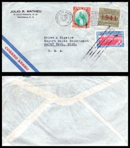 Goldpath: Guatemala Airmail Cover 1941. _CV17_P9