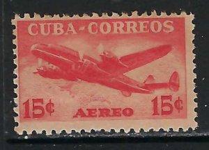 CUBA C76 MNH AIRPLANE TONING Z4109
