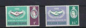 PN92) Pitcairn Islands 1965 International Co-Operation Year MUH