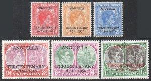 St Kitts-Nevis 1950 Tercentenary of Settlement of Anguilla MH