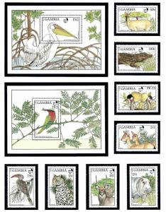 Gambia 719-28 MNH 1988 Wildlife