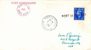 Martinique Great Britain 2 1/2d KGVI 1951 Fort-de-France, Martinique to Louis...