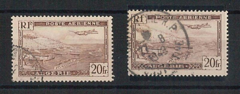 66221 - ALGERIA - Very Finely USED STAMP :  Yvert AIRMAIL 4 + 4A