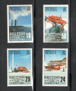 BRITISH ANTARCTIC TERRITORY Sc# 145 - 148  MNH FVF Set-4 Airplane Ice