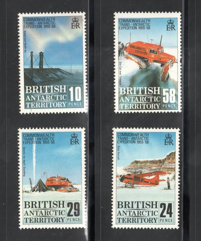 BRITISH ANTARCTIC TERRITORY Sc# 145 - 148  MNH FVF Set-4 Airplane Ice