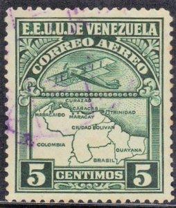 VENEZUELA SC# C119 **USED** 1939  5c  AIRMAIL  SEE SCAN