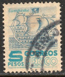 MEXICO 865, $5P 1950 Definitive wmk 279 Used. VF. (456)