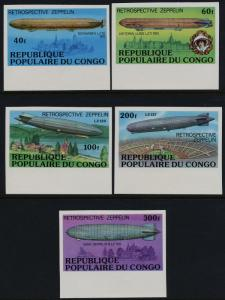 Congo PR 408-12 imperf MNH Zeppelin, Architecture