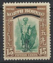 North Borneo  SG 343 SC# 231 MNH    OPT GR Crown - See scan