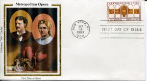 US FDC Scott #2054 Metropolitan Opera. Colorano Silk Cachet. Free Shipping.