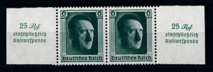 [70518] Germany Reich 1937 Hitler Stamp from Sheet Mi. 648 MNH OG