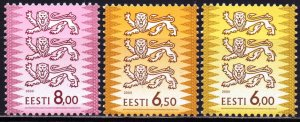 Estonia. 2000. 381-83. Standard. MNH.