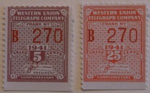 United States Telegraph 16T104-5 MNH