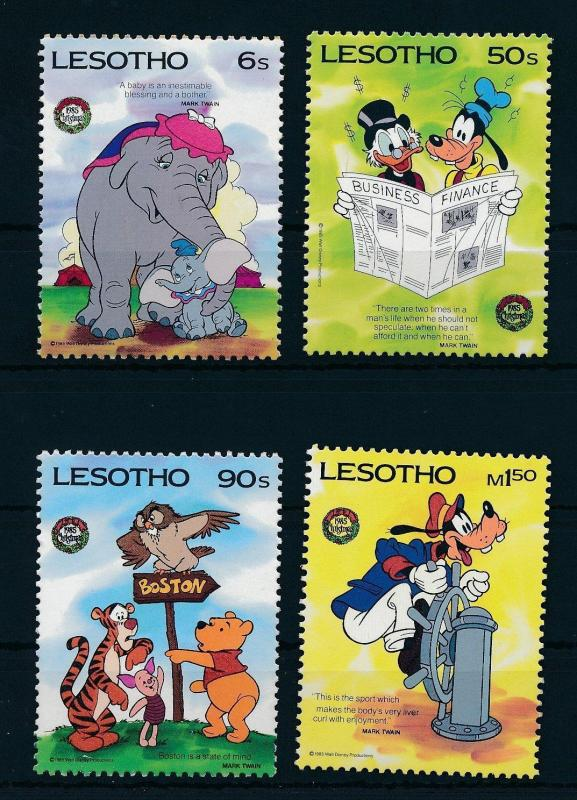 [22295] Lesotho 1985 Disney 150th Birthday Mark Twain MNH