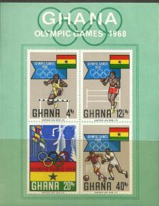 GHANA  343A  MNH, SS, OLYMPIC GAMES  1968