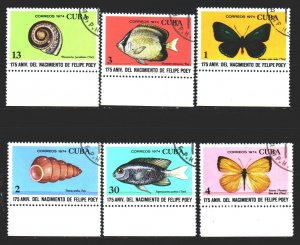Cuba. 1974. 1968-73. Shell, butterfly, fish. USED.