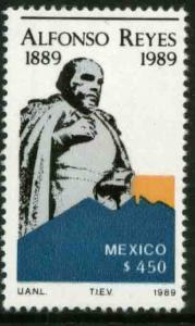 MEXICO 1611 Centenary of the Birth of Alfonso Reyes MINT, NH. VF.