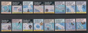 Marshall Islands 35-49A Maps MNH VF