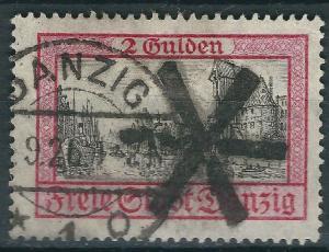1924. GERMANY DANZIG Mi.# 208  ORIGINAL POSTALY USED catalog value 130€