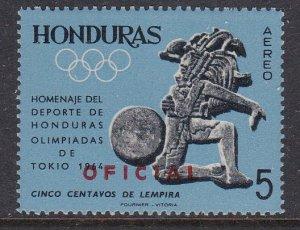 Honduras #CO113 single F-VF Mint NH ** Tokyo Summer Olympics