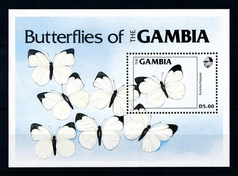 [70695] Gambia 1984 Insects Butterflies Souvenir Sheet MNH