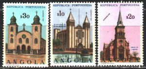 Angola. 1963. 483-86 of the series. Churches, architecture. MLH.