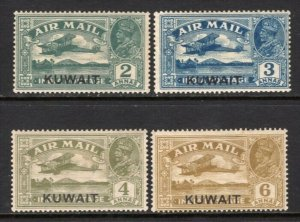 Kuwait 1933-34 Airmail Set Mint, the 4a Signed Kessler #C1-4 CV$197