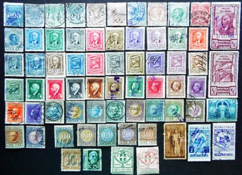 ITALY  Large Collection of Revenue Stamps