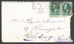 Scott #147(pair), San Francisco, CA to Sweden, Usages to ...