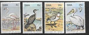 SOUTH WEST AFRICA SG330/3 1979 WATER BIRDS  MNH