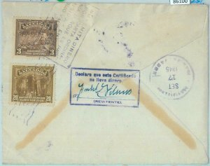 86100 - EL SALVADOR - Postal History -  REGISTERED COVER  to ARGENTINA - 1945