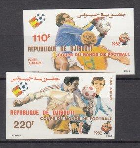 DJIBOUTI SC# C153-C154 WORLD CUP SOCCER ESPANA 1982 MNH - IMPERF