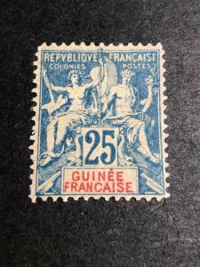 French Guinea Scott 11 Mint OG CV $24
