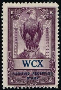 USA  - EKKO -  WCX - Detroit, MI - Verified Reception Stamp $29.95