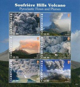 Montserrat Landscapes Stamps 2017 MNH Soufriere Hills Volcano Volcanoes 6v M/S