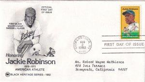 1982, Honoring Jackie Robinson, PCS, FDC (E12264)