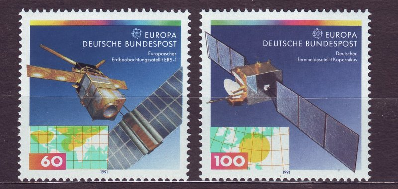 J23404 JLstamps 1991 germany set mnh #1642-3 space europa