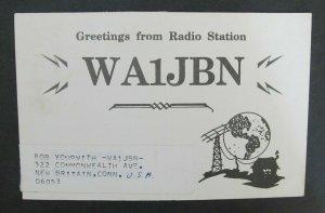 6229 Amateur Radio QSL Card New Britain USA