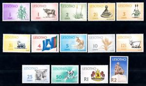 [66583] Lesotho 1971 Definitives Plants Cow Sheep Diamonds Flag  MNH