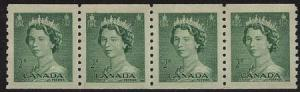 Canada - 1953 2c QE Karsh Coils X 20 mint #331 F-VF-NH Cat. $40.00