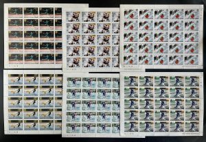 Stamps Full Set in Sheets Olympic Games Innsbruck 76 Guinea Bissau Perf.