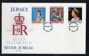 Jersey #168-170 FDC CV€1.80 QEII Silver Jubilee