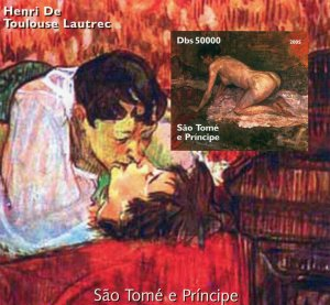 Sao Tome & Principe 2005 TOULOUSE LAUTREC Paintings s/s Imperforated Mint (NH)