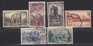 France - 1938 Views  Sc# 342/347 (777N)