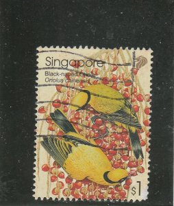 Singapore  Scott#  1016  Used  (2002 Black-Naped Oriole)