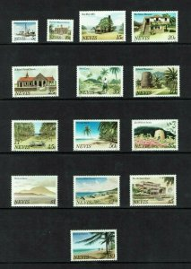 Nevis: 1981, Island Scenes, definitive set, MNH