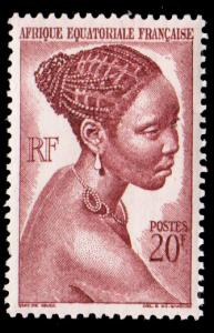 French Equatorial Africa Scott 183 Unused lightly hinged.