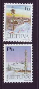 Lithuania Sc 680-1 2000  Christmas stamp set mint NH